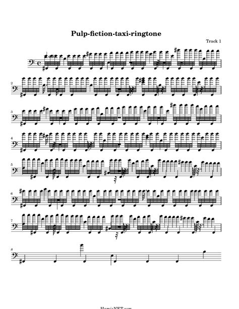 theme music pulp fiction pulp fiction taxi ringtone sheet music pulp fiction taxi