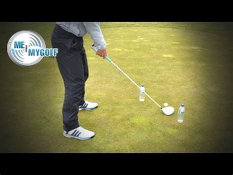 inside out golf swing drill fix your slice using a water bottle youtube