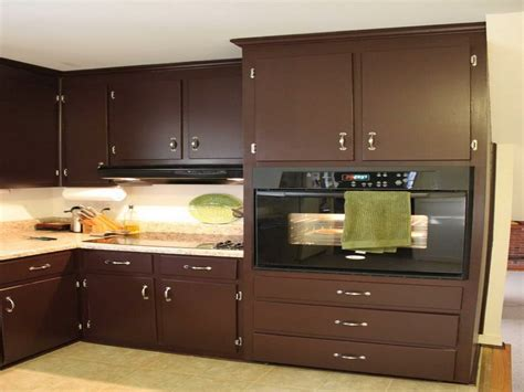 kitchen natural brown kitchen cabinet painting color