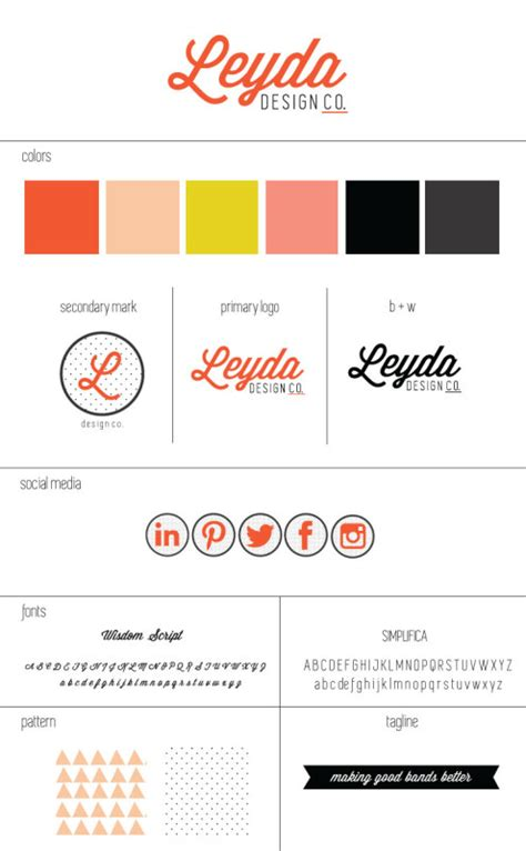 home design brand sheets leyda design co branding