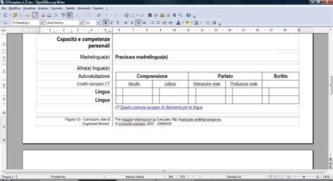 Modelo Curriculum Europeo Doc Pin Formato Europeo Per Curriculum Vitae Modello Doc Kamistad On