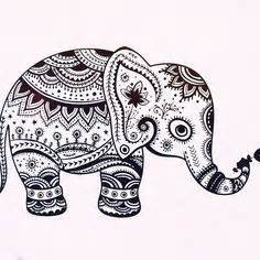 mosaic elephant coloring page mosaic coloring for adults elephant mandala 169 pinterest