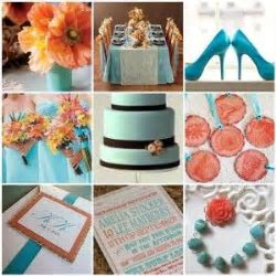 13 best Peach and Turquoise images on Pinterest   Weddings