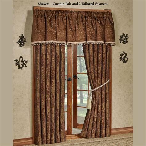 brown window curtains china art asian inspired brown window treatment by sherry