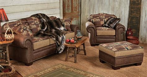 lodge couch log cabin furniture rustic furniture black forest decor