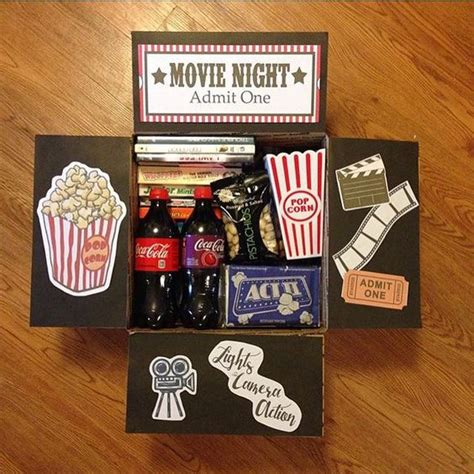 movie night care package gifts packaging pinterest