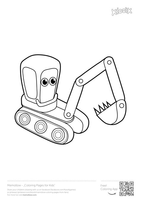 excavator coloring page printable excavator coloring book coloring pages