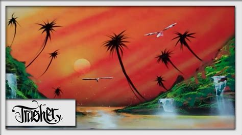 spray paint landscape by trasher tropical sunset spray paint by trasher