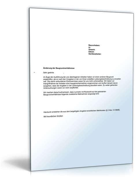 Musterbriefe Gegen Inkassobüros Musterbrief Bedenkenanmeldung Gegen Die Baugrundverh 228 Ltnisse