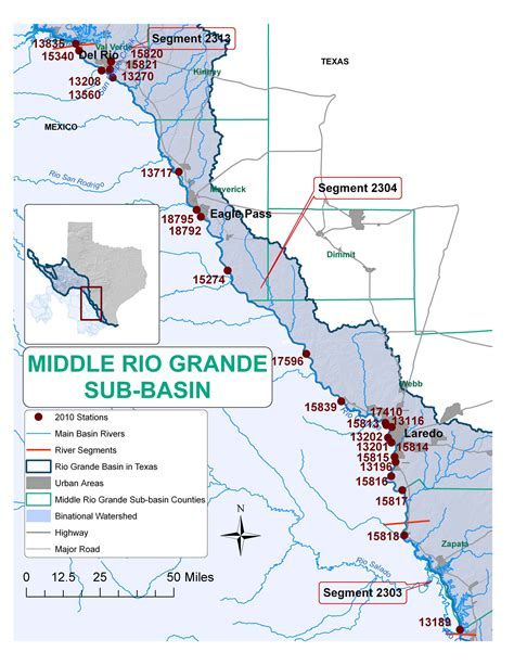 grande texas map texas clean rivers program study area
