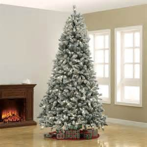 holiday time pre lit 9 winter frost christmas tree clear