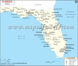 map of florida with towns florida map with cities and towns