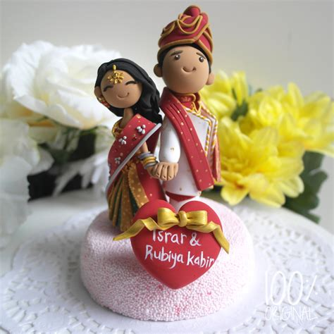 Handmade Cake Toppers Uk - custom cake topper indian traditional wedding theme