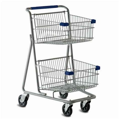 shopping cart model 5141d two basket convenience grocery shopping cart