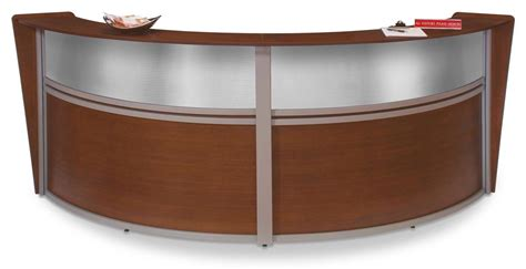 Reception Area Desk Commercial Reception Area Desks 10 Cherry Finish Curved Design