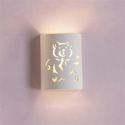Childrens Wall Sconce 7 quot teddy cylinder sconce wall lights fabby