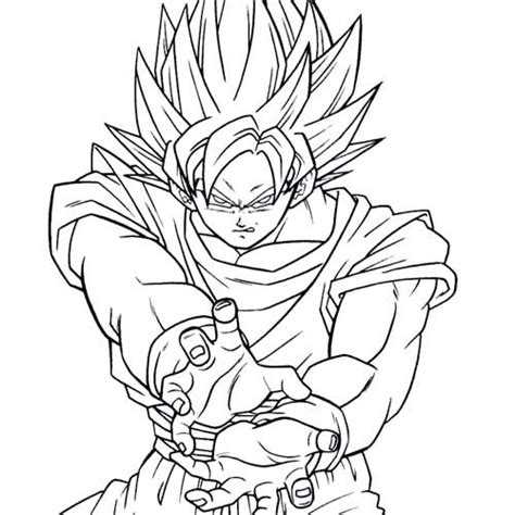 goku coloring pages coloring pages to print