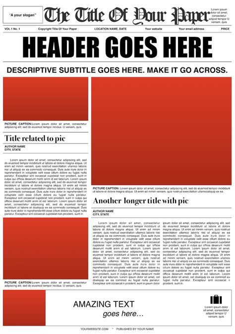 Newspaper Template Design Mockup New York Times Newspaper Template Docs