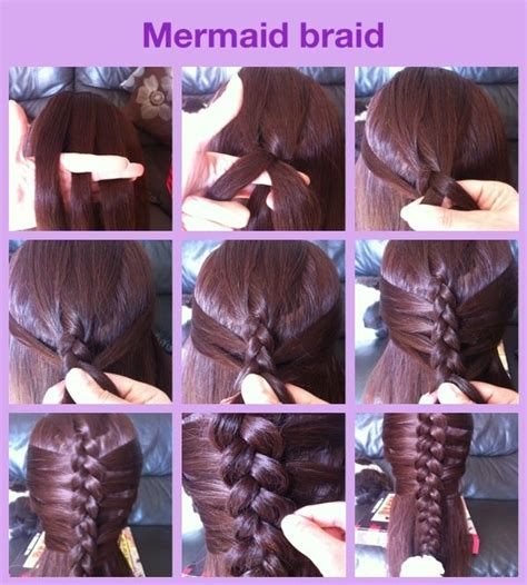 cool braided hairstyles step by step mermaid braid step by step hair pinterest brides
