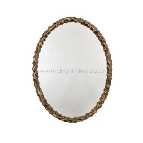 oval antique gold mirror: angelic oval antique gold mirror mm  midnight