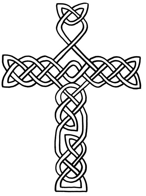 coloring pages of crosses with roses cross with flowers coloring page clipart best
