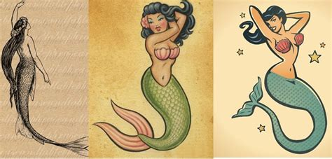 vintage mermaid tattoos www pixshark com images