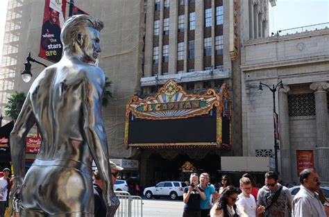Hm High Line Festival With David Bowie by H M Erects Shiny Statues Of David Beckham In His