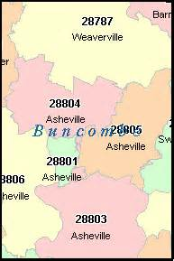 asheville carolina zip code map asheville carolina nc zip code map downloads