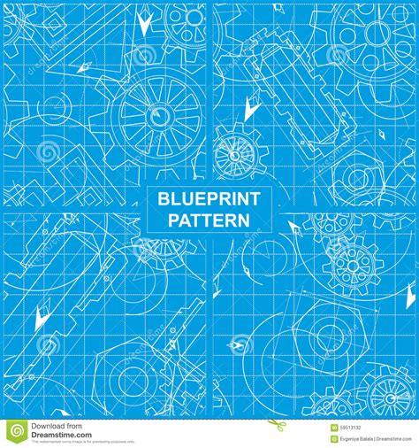 pattern maker of days gone by blueprint pattern stock vector image 59513132