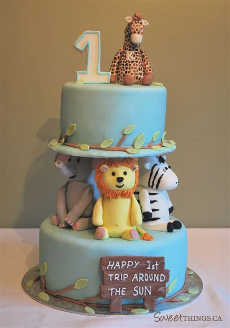 1st Birthday Cake by Sweetthings 1st Birthday Cake