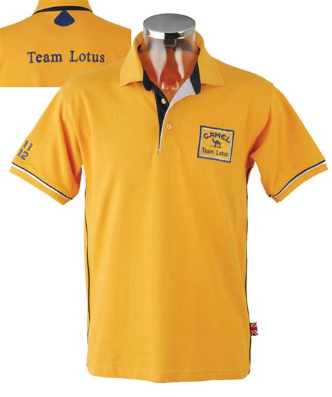 lotus shirt camel team lotus polo shirt