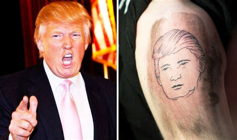 trump tattoo muslim donald trump fan shows support by offering free tattoos of
