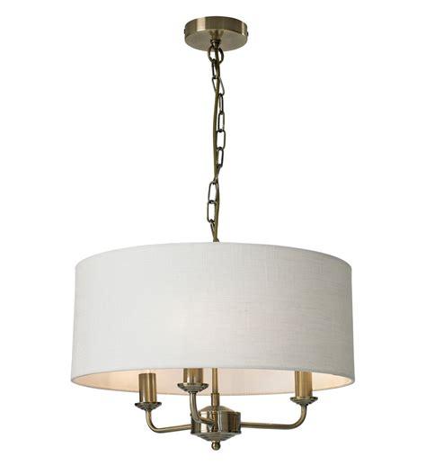 grantham 3 light ceiling fitting antique brass