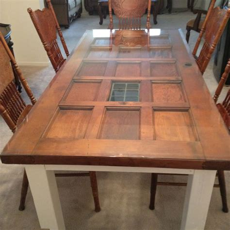 built in dining room table our new dining room table made from an door built in 1947 we it crafts pinterest