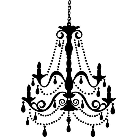 Black And White Chandeliers Chandelier Removable Wall Decal With Gems Wall2wall