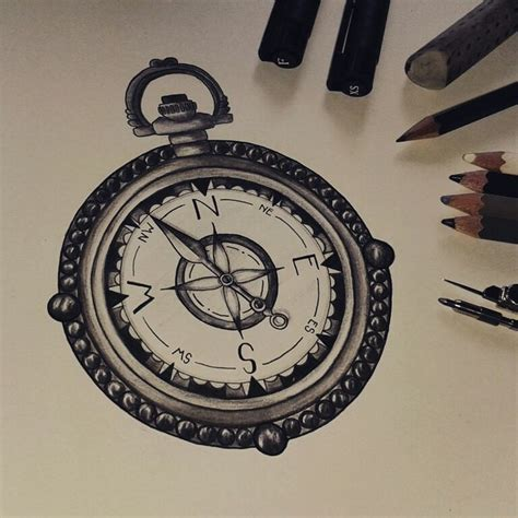 vintage compass tattoo vintage compass sketch www imgkid the image