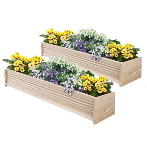 Greenes Fence 48 In L Cedar Planter Box 2 Pack Planter Boxes