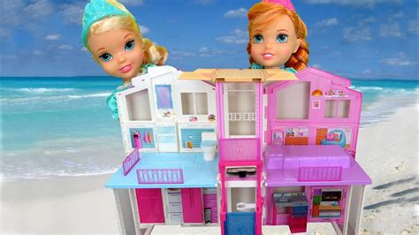 elsa house beach house elsa anna toddlers visit barbie s ocean