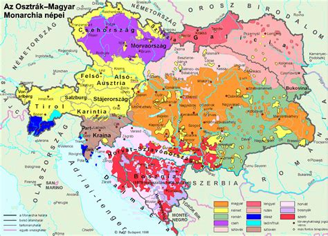 austro hungarian empire map ethnic composition of the austro hungarian empire