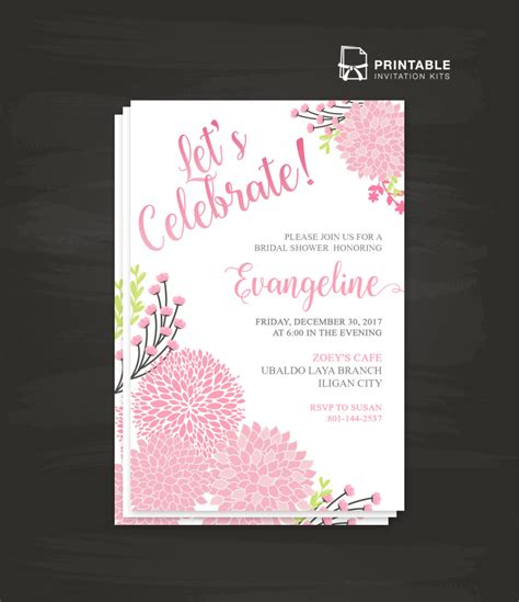let s celebrate party invitation template wedding