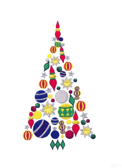 christmas designs ornaments christmas tree embroidery design