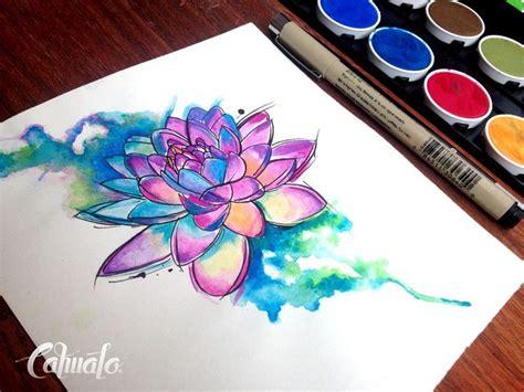 watercolor tattoo tecnica loto mandala watercolor designs search