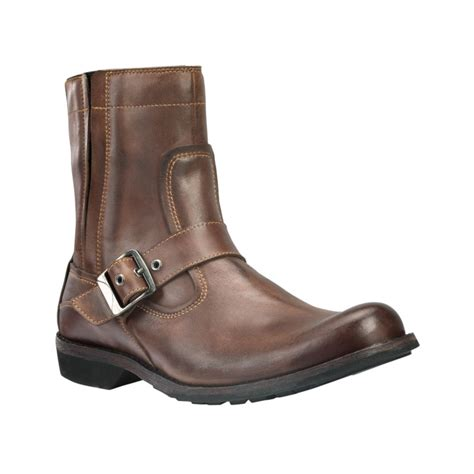 buckle boots for timberland earthkeepers city zip buckle boots in brown for