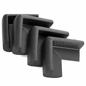 4 black baby safety edge table corner guard protector