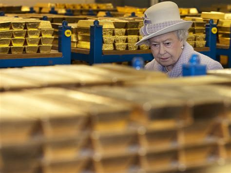 gold uk gold in secret vaults beneath the bank of