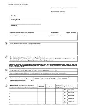 Vorlage Antrag F R Bildungsgutschein Vordruck F R Den Antrag Auf Beratungshilfe Allgemeine Hinweise Fill Printable