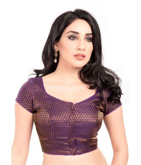Id 459 Purple Ethnic Blouse vamas purple brocade blouses buy vamas purple brocade