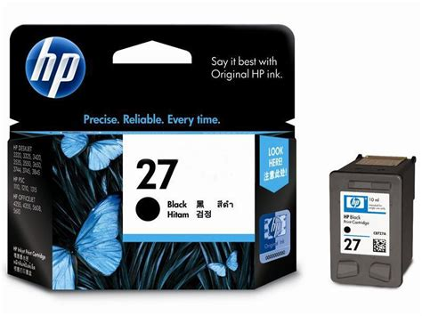Tinta Hp 27 Black Original Exp quot tinta printer original quot hp black 27 c8727aa