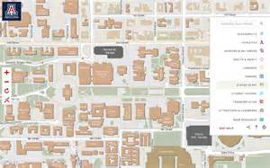 u of arizona cus map of arizona map of cus
