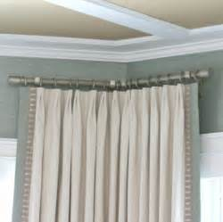 Kitchen Bay Window Curtains Ideas by Corner Window Curtain Rods Inside Killer Curtain Rods For